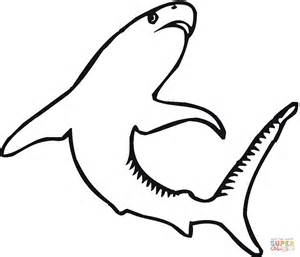 shark outline coloring page tiger shark 4 coloring page free printable coloring pages