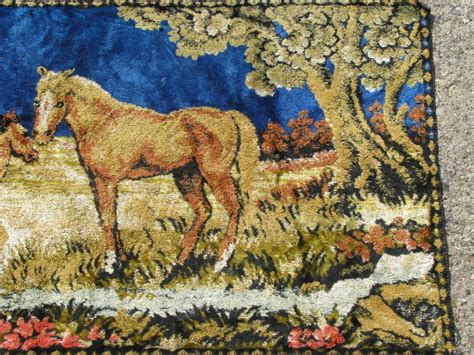 Modern Garage Design retro vintage wall hanging tapestry rugs horses and
