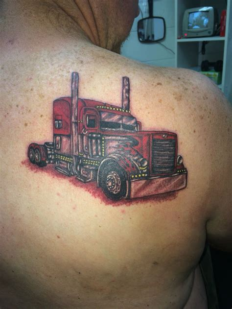 trucker tattoos truck drivers delight done by ricky garza in