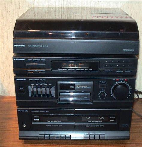 stereo cassette player panasonic stereo system tuner radio cassette record