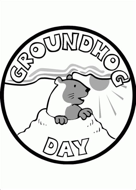 groundhog day coloring pages coloringpagesabc com