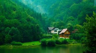 home in the mountains house in the green mountain stunning scenery wallpaper