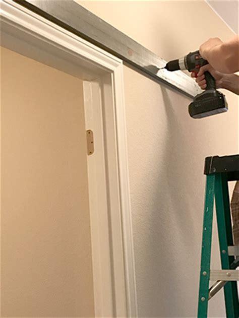 how to install barn door track barn door diy home installation