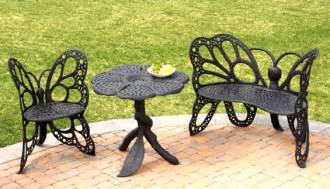butterfly patio furniture amazing butterfly garden chair set garden furniture