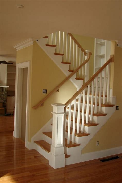 lighthouse newel post and stair of cape cod massachusetts