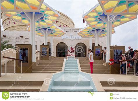 pavillon ausstellung leute die katar pavillon an ausstellung 2015 in mailand