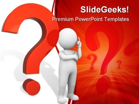 powerpoint templates for questions questions mark people powerpoint template 0910 3d