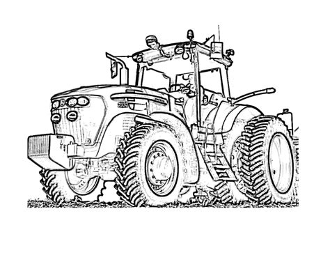 tractor coloring pages tractor and wagon coloring page coloring pages