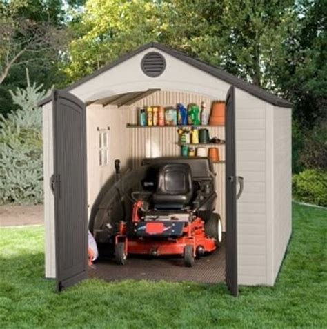 12 X 8 Plastic Shed by 8 X 12 5 Lifetime Plastic Outdoor Storage Shed With 1