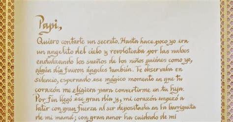 carta para pap antes de nacer caligraf 237 a m 243 nica arcila r b 225 sica art 237 stica creativa