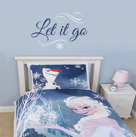 Frozen Room Decor Frozen Inspired Wall Decal Let It Go By Wildgreenrose On Etsy