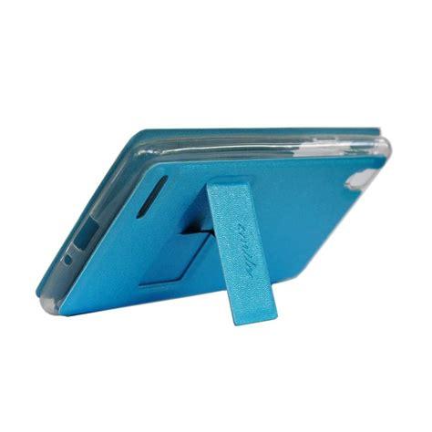 Casing Hp Zenfone 4 jual smile flip cover casing for asus zenfone 4 biru