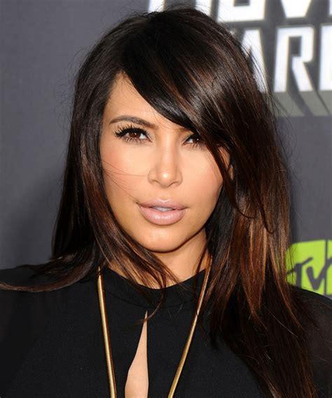 rayos en cabello negro kim kardashian hairstyles in 2018