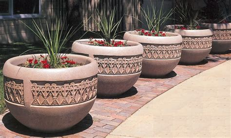 Concrete Security Planters by Concrete Planters Planters Security Planters