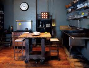 industrial style kitchen island 25 best industrial kitchen ideas to get inspired