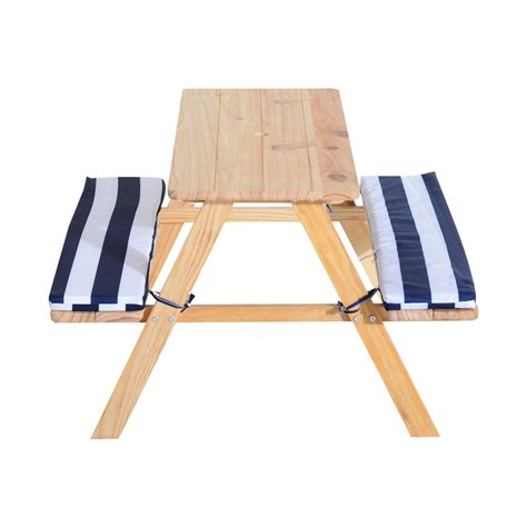 bench and chairs qaba kids table chairs combo outdoor play picnic seat