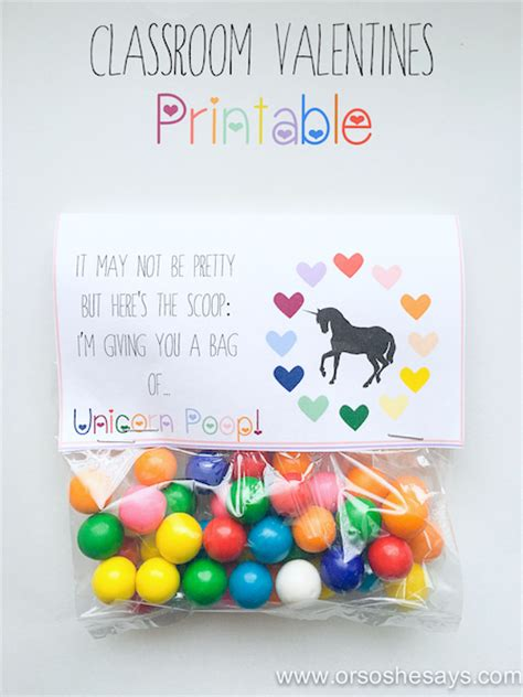 free printable unicorn valentine clever printable valentines you ll go crazy for bite