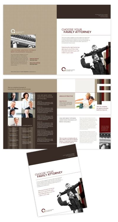 brochure design editor family law brochure template will be a good choice for