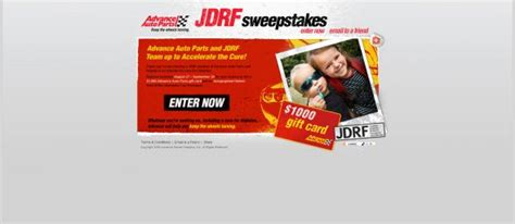Advance Auto Sweepstakes - advance auto parts juvenile diabetes sweepstakes