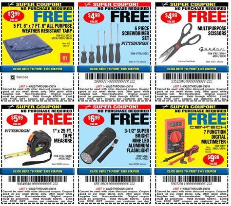 Harbor Freight Gift Card Walmart - harbor freight free coupon coupon valid