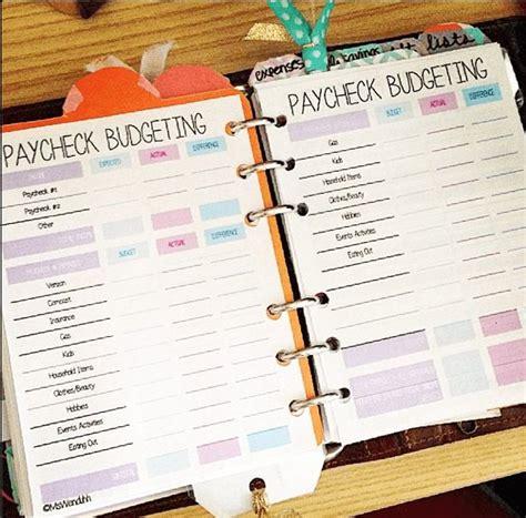 budget binder ideas  pinterest