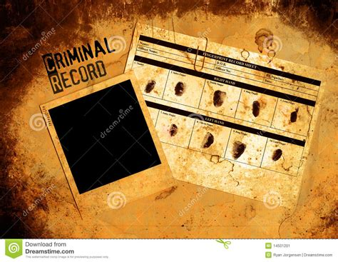 That Accept Criminal Record Criminal Record File Stock Image Image 14501201