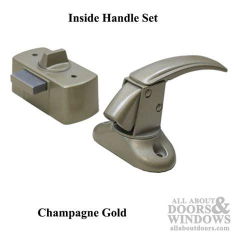 interior deadbolt door lock interior door handle deadbolt chagne gold