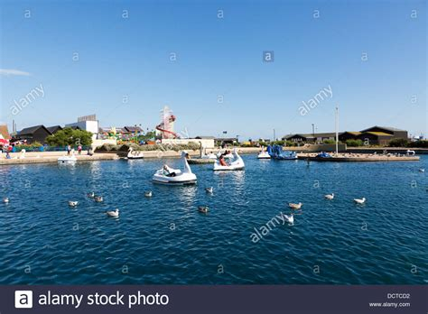 swan pedalo stock photos swan pedalo stock images alamy - Swan Pedal Boats Hastings