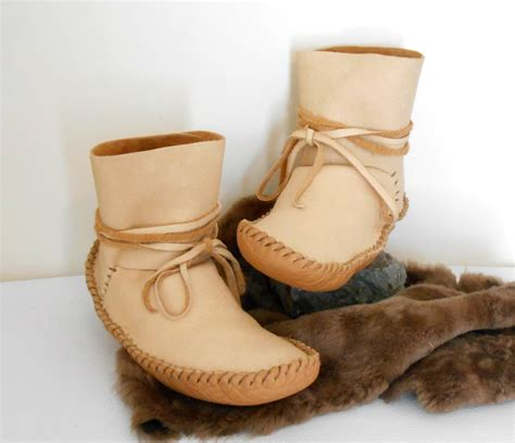 handmade moccasins ankle wrap moccasins ankle boots