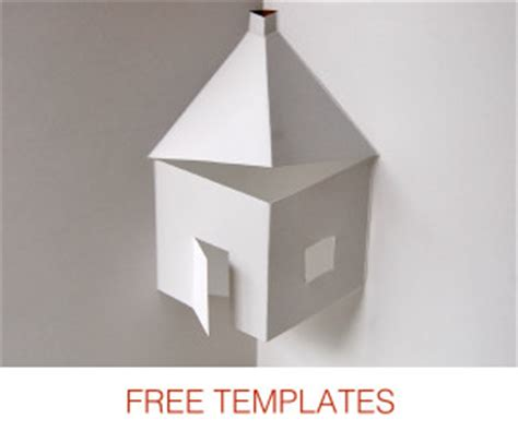 Free Template Of White House Pop Up Card by Make Pop Up Cards Pop Up Paper House Paper Toys Diy