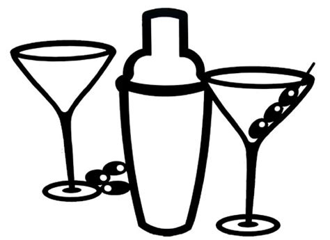 Martini Shaker Clipart Clipart Suggest