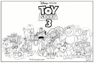 toy story 3 characters kids coloring pages