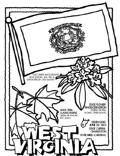 coloring pages virginia west virginia coloring page crayola