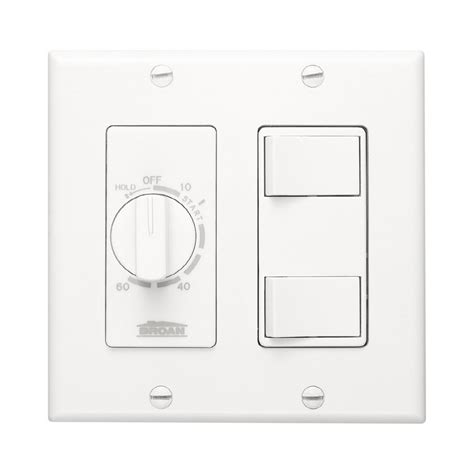 Lowes Light Switch by Shop Broan 20 White Single Pole Timer Light Switch At