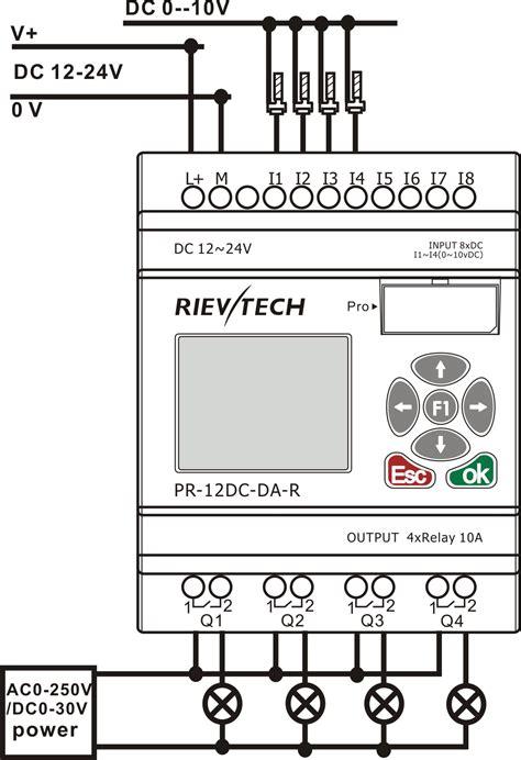 plc output wiring diagram plc wiring diagram exles
