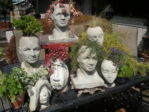 Medusa Planter concrete pothead planters concrete garden leaves