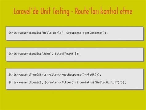 tutorial php unit testing phpunit laravel phpunit ve laravel