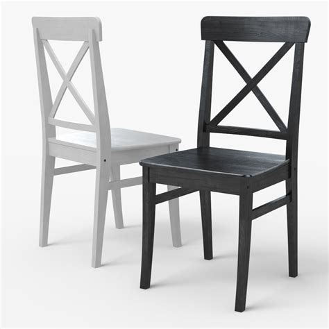 ingolf bench ingolf ikea dining chair 3d model