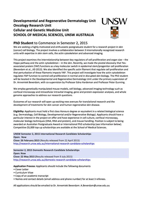 Resume Sle Unsw unsw cover letter gallery cover letter sle
