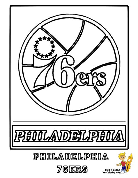 76ers Coloring Page by Pennsylvania Pro Sports Coloring Day Philadelphia 76ers