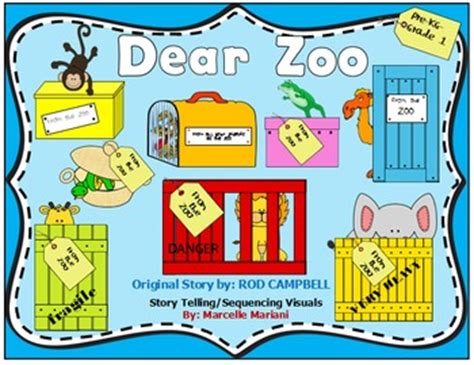 themes zoo story dear zoo story sequencing re telling visuals freebie