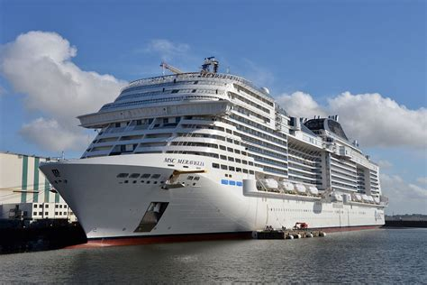largest cruise ship msc cruises takes delivery of 2017 s largest cruise ship