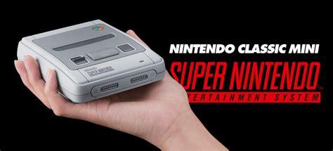 console nintendo anni 90 nintendo classic mini snes ritorna la storica console