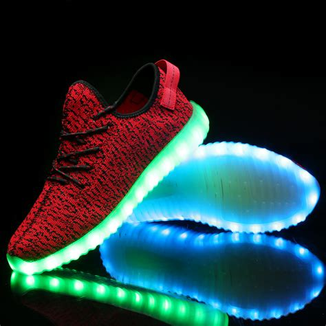 lighted shoes for change colors luminous shoes 2016 fashion usb rechargeable