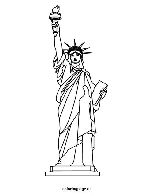 statue of liberty coloring sheet 4th of july pinterest
