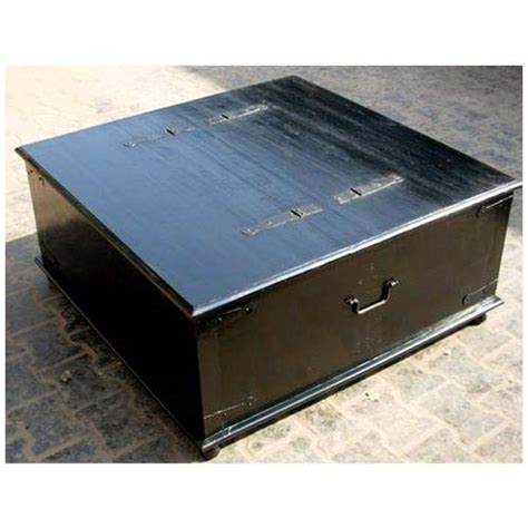 Black Square Coffee Table With Storage Black Square Wood Storage Trunk Chest Box Coffee Table