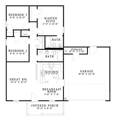 eplans new american house plan casual space opens to 10 best small house plans with attached garages images on