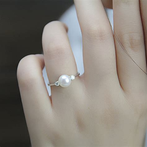 real pearl ring cubic zirconia engagement rings june