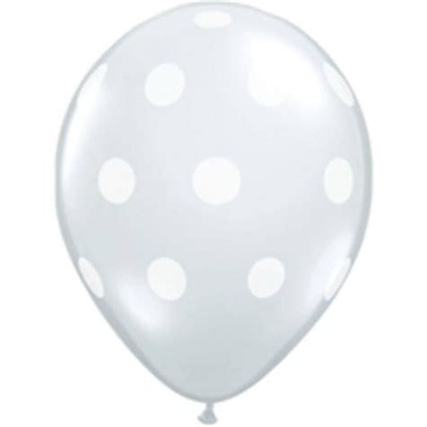 Balon Polkadot Stick clear balloon polka dot pretty shop