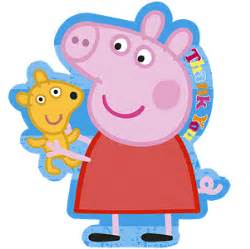 you peppa pig thank you cards